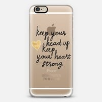 Keep Your Head Up on Clear iPhone 6 case by Tangerine- Tane | Casetify