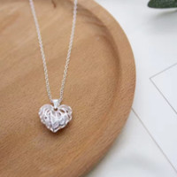 New Arrival Fashion Jewelry Pendant Necklace Hollow Out Heart Pendant D2765-0413