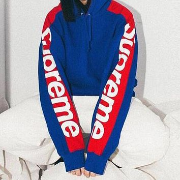 Supreme Woman Men Fashion Top Sweater Pullover Hoodie