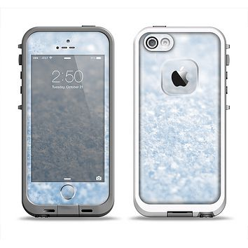 The Sparkly Snow Texture Apple iPhone 5-5s LifeProof Fre Case Skin Set