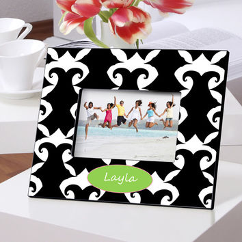 Personalized Color Bright Frames - Damask
