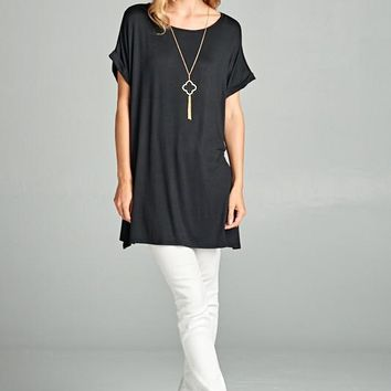 Jersey Tunic Top