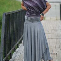 POLA Romantic gray long skirt with two layers by Comfortissimo