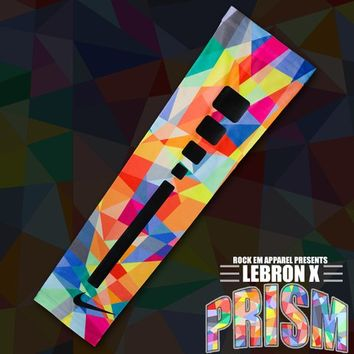 Lebron X Prism Custom Nike Elite Sleeve | Rock 'Em Apparel