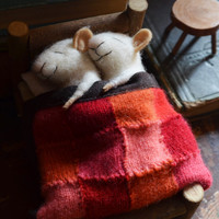 Sleeping Mice - quilting - unique - needle felted ornament animal, felting dreams Made to order