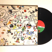 FALL SALE Led Zeppelin Led Zeppelin III Vinyl Record Sd 19128 Lp Album 1977 Immigrant Song Jimmy Page