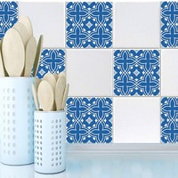 Tile decals Stickers - Tile Decals - Tile decals for Kitchen or Bathroom - PACK OF 20 - Mexico, Morocco, Portugal, Spain, Mosaic #15