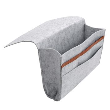 Storage Bag Felt Bedside Hanging Storage Organizer Bedding Table Storage Pockets Container Hanging Holder with Mulit-Pockets