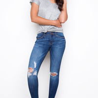 Get In Line Distressed Skinny Jeans