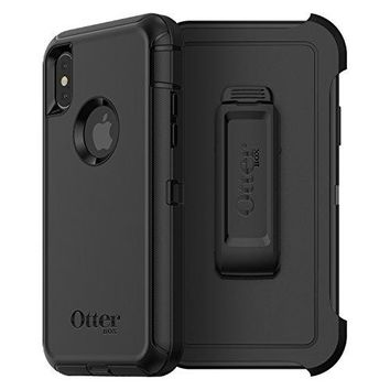 OtterBox DEFENDER SERIES Case for iPhone X (ONLY) - Retail Packaging - BLACK