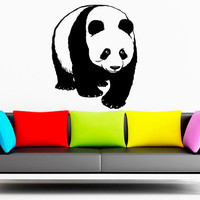 Wall Decal Vinyl Sticker Decals Art Decor Design  Big panda Nice  Animals Nature Wild  Fashion Bedroom Dorm Nursery Office fun Gift (r1330)