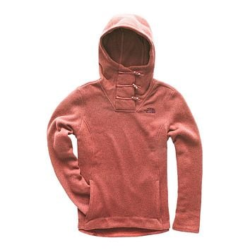 Women's Crescent Hooded Pullover in Faded Rose Heather by The North Face