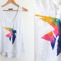Splash Dyed HAND PAINTED Sparrow Swing Tank Top by twostringjane
