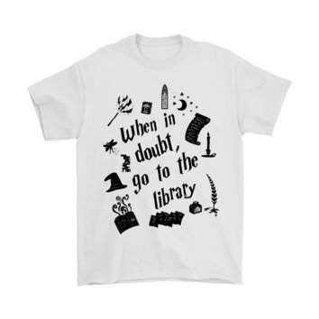 PEAP8HB When In Doubt Go To The Library Harry Potter Shirts