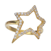 Lucky Star    Stardust ring gold