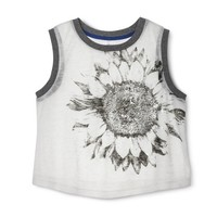 Xhilaration® Junior's Cropped Graphic Knit Tank