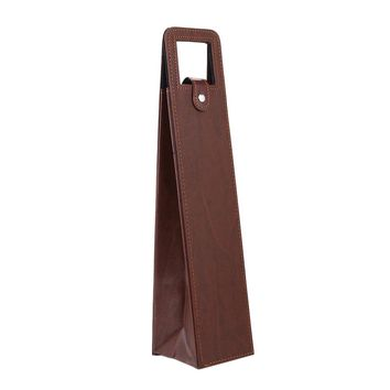 Red Wine Bottle Bags Box Leather Foldable Flexographic Printing Portable Fashion