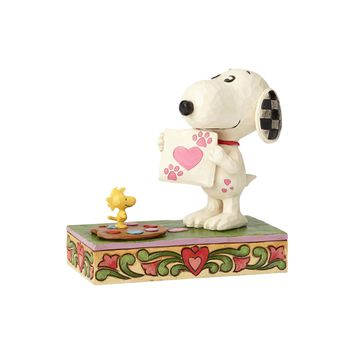 "Snoopy with Woodstock ""Work of Heart"" Figurine"