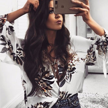 Cindy Willow Criss-Cross White Blouse