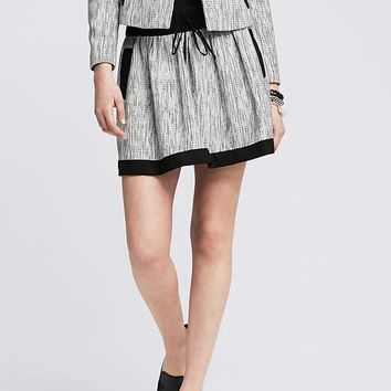 Banana Republic Womens Framed Tweed Skirt