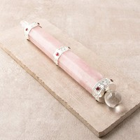 Rose Quartz Gemstone Healing Wand