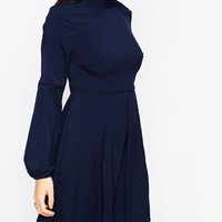 Warehouse High Neck Baby Doll Dress at asos.com