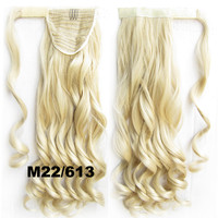 Ponytail Hair Extension Heat Proof Synthetic Wrap Around Invisable Long wavy Velcro Ponytail Hair Extension Clip In on Hair Pony Tail,Wig Hairpiece,woman wigs,wig hairs,Bath & Beauty,Accessories BIP-888 M22/613