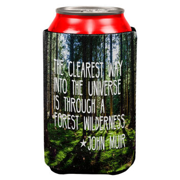 Forest Wilderness John Muir All Over Can Cooler