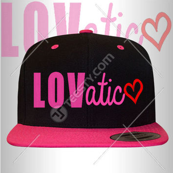 Lovatic Snapback Snapbacks Hat Hats Cap Caps Demi Lovato Demi Lovato Snapback Snapbacks Hat Hats Singer Really Do Not Care Heart Attack