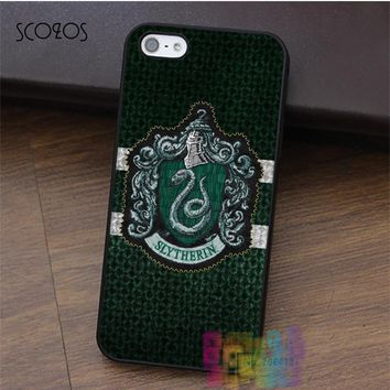 SCOZOS Slytherin Harry Potter fashion cell phone case for iphone X 4 4s 5 5s 5c SE 6 6s 6 plus 6s plus 7 7 plus 8 8 plus #LI2832