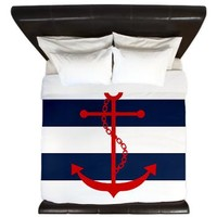 Red and Blue Anchor King Duvet> Duvets> Heartlocked