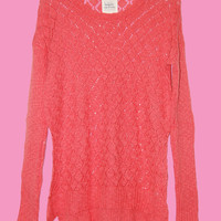 Diamond Pattern Loose Knit Sweater