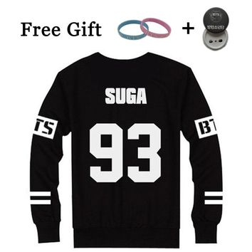 KPOP BTS Bangtan Boys Army Korean Style  Boys Black Hoodies Full Sleeve   Capless Sweatshirt JIMIN SUGA Number Print Clothes Moletom Feminino AT_89_10