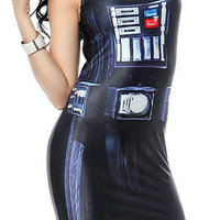 Darth Vader Sleeveless Min Dress Design 3047
