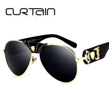Luxury Metal Mirror Sun Glasses