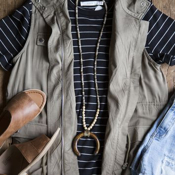 Out West Army Vest, Olive