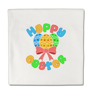 """Happy Easter Easter Eggs Micro Fleece 14""""x14"""" Pillow Sham by TooLoud"""
