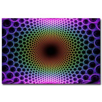 Psychedelic Trippy Art Silk Fabric Poster Print 13x20 24x36inch Abstract Wall Picture for Living Room Decor 009