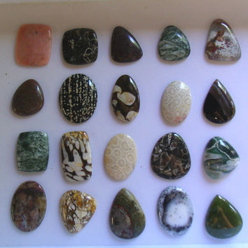 Wholesale Lot Cabochon Cabs Wire Wrap Jewelry Supplies 20 piece Handmade Stone Gem Wire Wrapping