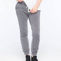Full Tilt Burnout French Terry Womens Jogger Pants Gray  In Sizes