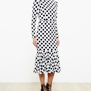 DOLCE & GABBANA | Polka Dot Crepe Dress | Browns fashion & designer clothes & clothing