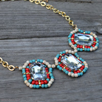 Turks And Caicos Beaded Statement Necklace