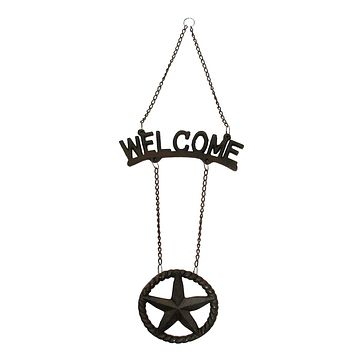 Cast Iron Welcome Star Sign