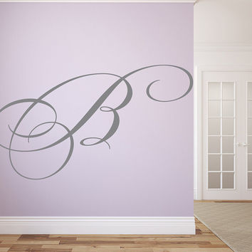 "Family Name Monogram Wall Vinyl Decal Graphic 40"" Tall Letter Home Decor"