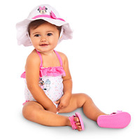 Minnie Mouse White Swimsuit for Baby