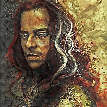 Game of Thrones Original Oil Painting - Jaqen Hgar - 12x12 to 24x36 painting/poster/canvas; great gift idea