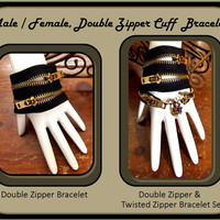 His Hers, Zipper Bracelet, Couples Bracelets, Best Friends Bracelets, Mother Daughter Jewelry, Birthstone Jewelry, steam punk jewelry