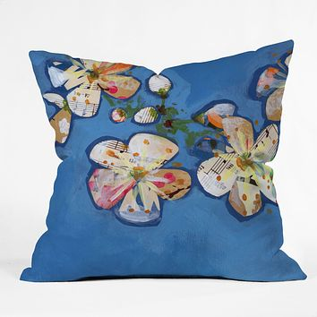 Land Of Lulu Apple Blossoms 2 Throw Pillow