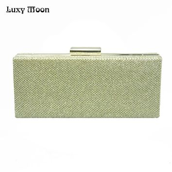 LUXY MOON Women's Purse PU Evening Party Clutch Handbag Crossbody Shoulder Bag with Chain Strap Ladies Wedding Wellet Bag ZD733