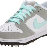 Nike Golf Women's Dunk Golf Shoe,White/Mint Candy/Granite,7.5 W US